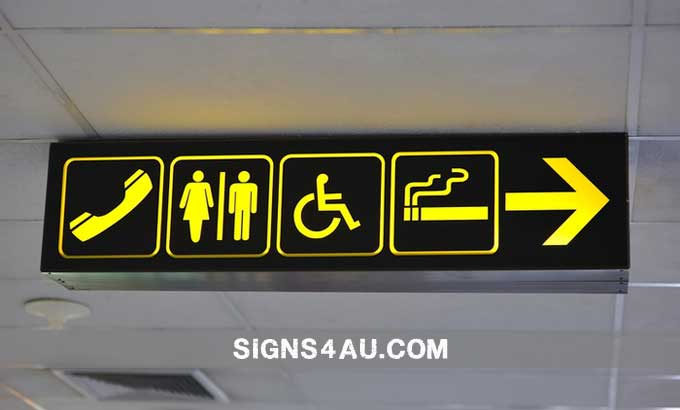 2d-led-double-sided-acrylic-channle-airport-signs