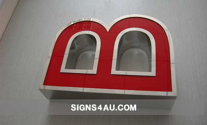 Led Acrylic Front Lit Channel Letters With Mirror Polished