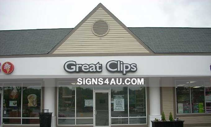 LED Front-lit Acrylic Channel Vacuum Formed Signs With Painted Aluminum Border